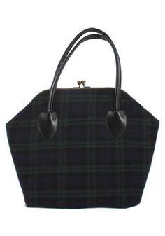 Vintage Pretty Plaid Handbag