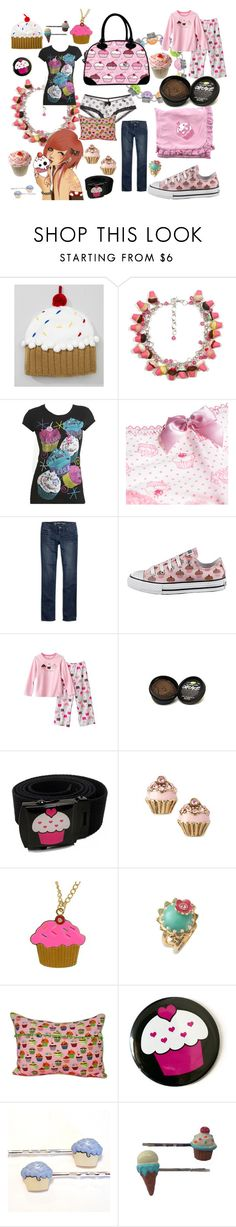 Cupcake by roseunspindle on Polyvore featuring Wet Seal, American Eagle Outfitters, Aerie, Juicy Couture, Betsey Johnson, Neff, Converse and fun casual cupcake