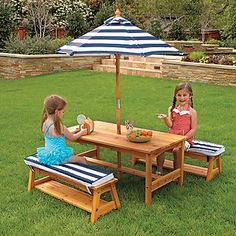 Kids Wooden Outdoor Picnic Table by KidKraft | OneStepAhead.com