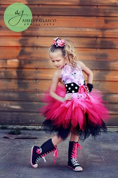 Pageant Outfit of Choice Pink Pirate Tutu  in Toddler size 2-4T