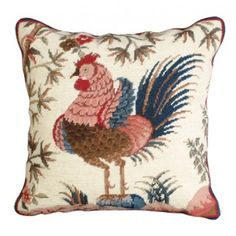 THE WELL APPOINTED HOUSE - Rooster Needlepoint Pillow - Pillows - Decorative