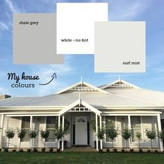 Grey weatherboard house colours - Exterior colors - I get asked about my house colours all the time. Every week I think! So I thought I'd put a post -