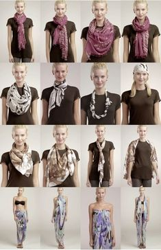 How To Tie a Scarf: 4 Scarves 16 Ways [Video]