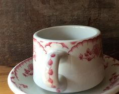 Shenango China Chardon Rose Coffee Cup Rim by putnamandspeedwell
