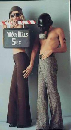 Ana Davis  GUY BOURDIN- In the sixties the message was make love not war.