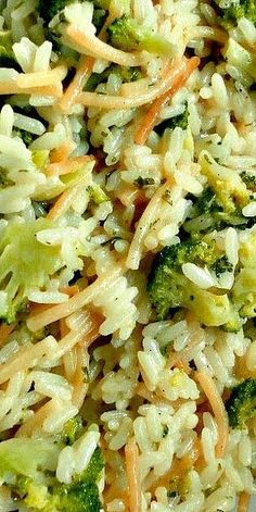 Homemade Broccoli Au Gratin Rice a Roni ❊ 1 cup white rice cup cut spaghetti broken 2 cups chicken broth 1 cup shredded cheese 1 cup chopped broccoli 3 tbsp. Rice Side Dishes, Vegetable Side Dishes, Pasta Dishes, Vegetable Recipes, Food Dishes, Vegetarian Recipes, Cooking Recipes, New Recipes, Healthy Recipes