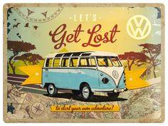 Placa metalica de decor 30 x 40 cm Get Lost