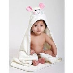 Lola The Lamb Loves A Cuddle. All Zoocchini Baby size towels are bound around the edges and lined with a spiral print, with the hood being lined in soft jersey fabric for comfort. Hooded Bath Towels, Baby Swimwear, Baby In Snow, Baby Towel, Costume, Baby Size, Little Ones, Gifts For Kids, Lamb