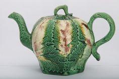 Rare Whieldon School Leaf Molded Teapot, England, ca 1765