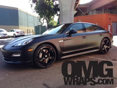Porsche Panamera Satin Matte Wrap by OMGWraps.com in stockton CA . Click to view more photos and mod info.