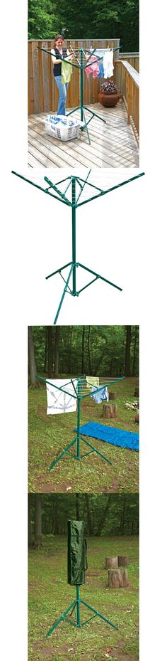 Clotheslines And Laundry Hangers 81241 Outdoor Portable Clothes Dryer Rotary Clothesline Line Drying Rack