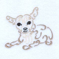 Swirly Chihuahua - 5x7 | What's New | Machine Embroidery Designs | SWAKembroidery.com Starbird Stock Designs