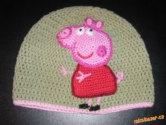 Amigurumi Tutorial Peppa Pig : Omg how cute is this hat picture tutorial for pig lady