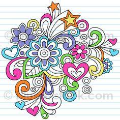 Psychedelic Flower Notebook Doodle Vector Illustration by blue67 by blue67design, via Flickr