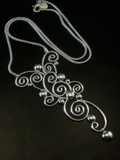 Sterling silver Large swirl PendantFREE SHIPPING by CavanaDesign, $200.00