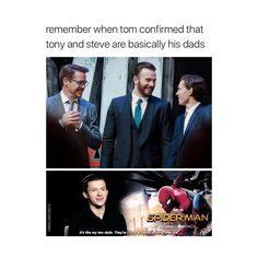 Tony, Steve, & Peter (Stony)