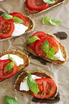 Open Faced Caprese Sandwiches with Brown Butter and Burrata (+ a giveaway!) | girlversusdough.com @girlversusdough #giveaway #BushelBoyTomatoes #ad