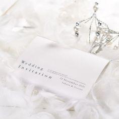 冬挙式にぴったり!ウインターホワイト♡「スウィートシュガー」招待状手作りセット http://www.farbeco.jp/shopdetail/036001000060/