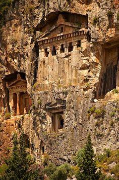 Hellenistic Temple, Tombs of Kaunos, Turkey