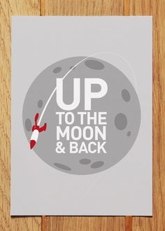 Up To The Moon & Back Postcard