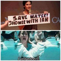 Ian Somerhalder, I volunteer as tribute ;)