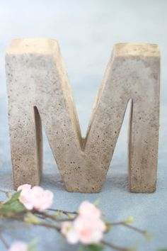DIY concrete letter for garden