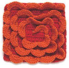 Spiral Crochet Block: free pattern