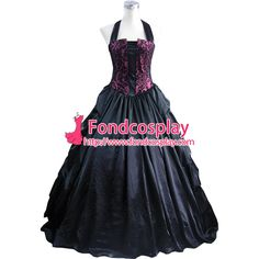 Free Shipping Gothic Lolita Punk Medieval Gown Ball Long Evening Dress Jacket…