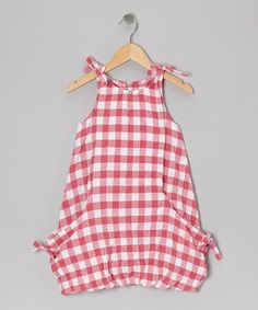 Take a look at this Pink Plaid Balloon Dress - Toddler & Girls by Wheat on #zulily today!