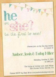 Our Gender Reveal Invites