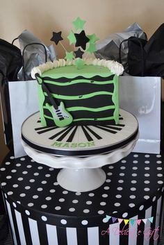 Cake from a  Rock Star Party #rockstar #partycake