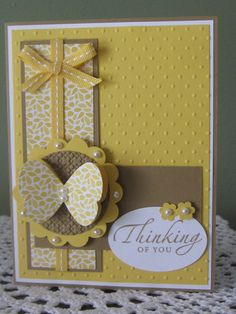 Stampin' Up Handmade Greeting Card Thinking Of by ConroysCorner, $3.75