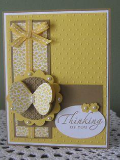 Stampin' Up Handmade Greeting Card Thinking Of by ConroysCorner, $3.75