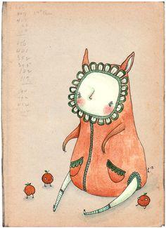 Cute Ilustration Tangerine by *Hannakin on deviantART
