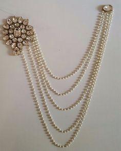 Buy Pearl & Flower Stone Studded Saree Broach