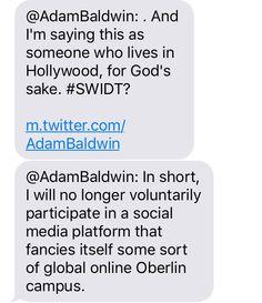 Adam Baldwin, In Hollywood, Social Media, Sayings, Lyrics, Social Networks, Social Media Tips, Quotations, Idioms