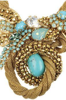 Turquoise and gold...interesting combo.