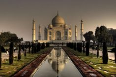 Even though it was technically a prison to keep his wife in, I still want to see it.    Taj Mahal, India