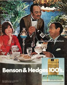 Benson & Hedges Ad from back of Life Magazine for January 28, 1972
