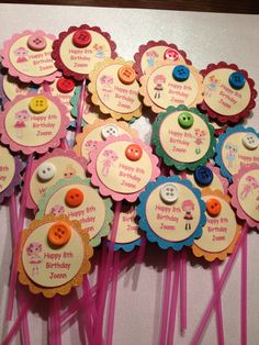 Lalaloopsy Cupcake Toppers by MyAllyBally on Etsy, $10.00