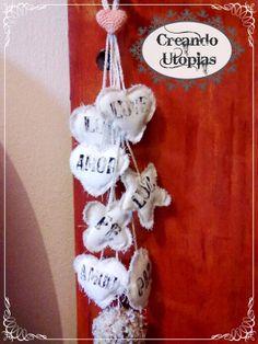 Colgante con cordones tejidos para las puertas
