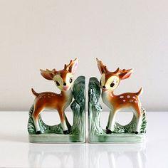Cute vintage inspired deer book ends!