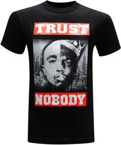 Trust Nobody West Coast East Coast Tupac and Biggie Men's T-Shirt