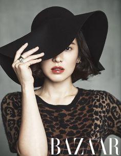Song Hye Kyo looks chic and elegant in fashion magazine 'Harper's Bazaar' | allkpop.com