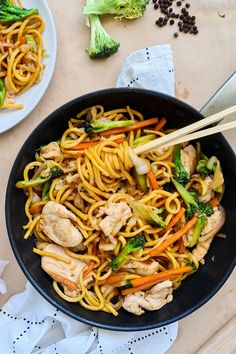 Healthy, quick and easy chicken noodle stir fry packed with lots of veggies! I love this budget-friendly meal that takes less than 30 minutes from prep to serving. It's nutritious, simple to make and versatile. #quickandeasymeal #healthymeals #noodles #dinnerideas Wok Recipes, Stir Fry Recipes, Asian Recipes, Dinner Recipes, Cooking Recipes, Healthy Recipes, Dinner Ideas, Chinese Recipes, Dinner Options