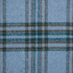Teal/Brown/Blue Tartan Plaid Double Faced Wool Coating