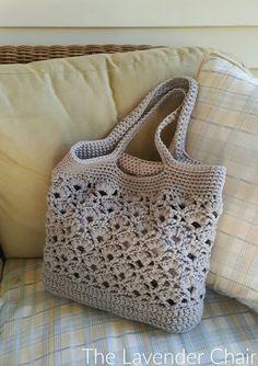 Daisy Fields Market Tote Crochet Pattern - The Lavender Chair