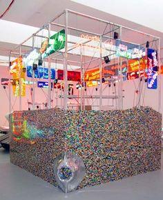 Jason Rhoades  http://farticulate.wordpress.com/2010/10/28/28-october-2010-jason-rhoades-selected-installations-interview/