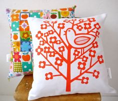 New Scandinavian 'Birdsong' cushion pillow cover by by Janefoster, $33.00