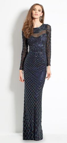 Long Sleeve Beaded Dress #camillelavie